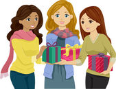 Exchange Gifts — Stock Photo