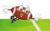 Football Mascot Touchdown — Stock Photo