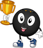 Squash Mascot Trophy — Stock Photo