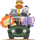 Safari Animal Truck — Stockfoto