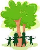 Family Tree Icon — Stock Photo