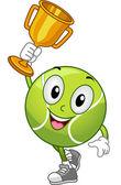 Lawn Tennis Ball Mascot — Stock Photo