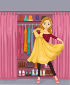 Girl Closet — Stock Photo