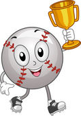 Baseball Mascot Trophy — Stock Photo