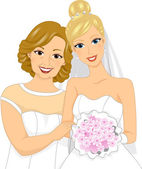 Bride and Mom — Stock Photo