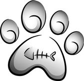 Cat Paw Icon — Stock Photo