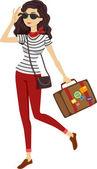 Traveler Girl — Stock Photo