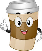 Coffee Cup Mascot — Stock Photo