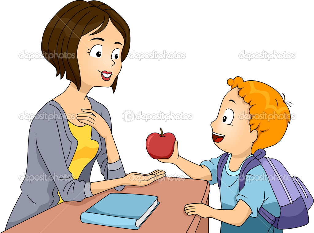Profesor de la manzana — Foto de stock © lenmdp #48930017