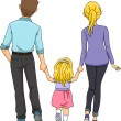 Family Walking Together — Stock Photo #51512977