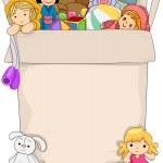 Box Full of Toys for Girls — Stock Photo #51512701