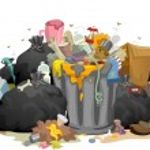 Постер, плакат: Messy Garbage Bags