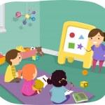 Kids Learning Basic Shapes — Stock Photo #51514117