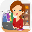 Female Online Seller Conducting Business — Stock Photo #51514237