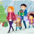 Family Doing Christmas Shopping — Stock Photo #51514427