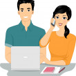 Couple Managing an Online Business — Stock Photo #51515827