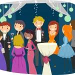 Teens Dressed Sharply for Prom Night — Stock Photo #51516183