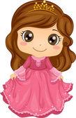 Girl Wearing a Princess Costume — Stock Photo