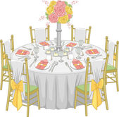 Formal Reception Table — Stock Photo