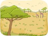 Safari Scene — Стоковое фото