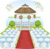 Garden Wedding Gazebo — Stock Photo
