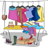 Clothing and Accessories — Stock Photo