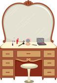 Tuvalet masası ile makyaj — Stok fotoğraf