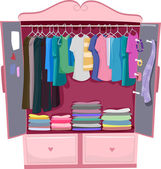 Pink Wardrobe — Stock Photo