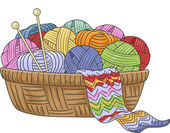 Knitting Basket — Stock Photo