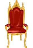 Royal Chair in Red and Gold — Stock Photo