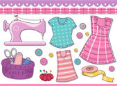 Sewing Materials for Scrapbooking — Stock Photo