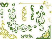 Vines in Green and Gold — Stock Photo