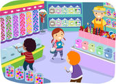 Kids in a Candy Store — Stock Photo