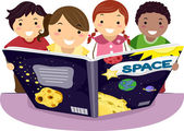 Kids Learning Astronomy Together — Stock Photo