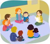 Parents and Children Class Activity — Foto de Stock