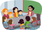 Parents and Kids Attending a PTA Meeting — Stock Photo