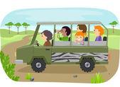 Family on a Safari Tour — Stock Photo