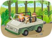 Family on a Safari Tour — Photo