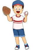 Boy Holding a Baseball — Stock Photo