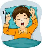 Boy Snoring While Sleeping — Stock Photo