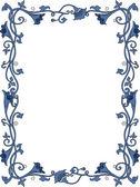 Bloemrijke frame — Stockfoto