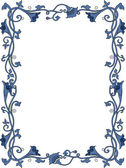 Blumige frame — Stockfoto