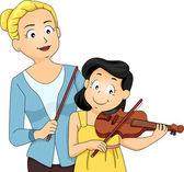 Leçon de violon — Photo