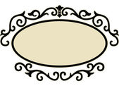 Frame Surrounded by Decorative Swirls — Stock Photo