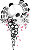 Skull Tattoo Design — Stock Photo