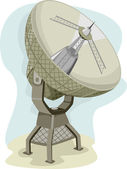 Radio Telescope Collecting Data — Stock Photo