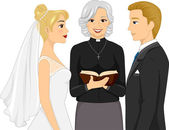 Priest Officiating a Wedding Ceremony — Stock Photo