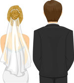 Bride and Groom in a Wedding Ceremony — Stock Photo