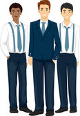 Groomsmen Wearing Formal Attire — Stock Photo
