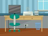 家庭办公室室内装饰 — 图库照片